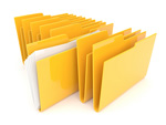 A row of file folders.