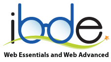 IBDE logo with subtext Web Essentials and Web Advanced
